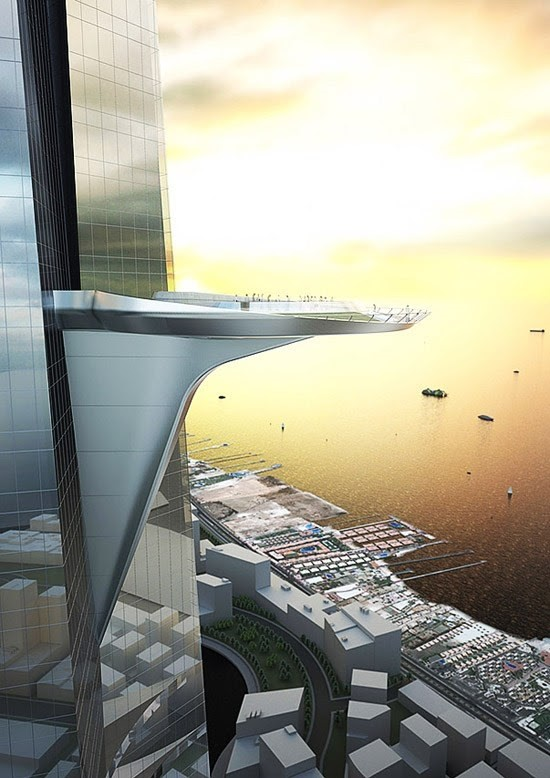 The Jeddah Tower observation deck