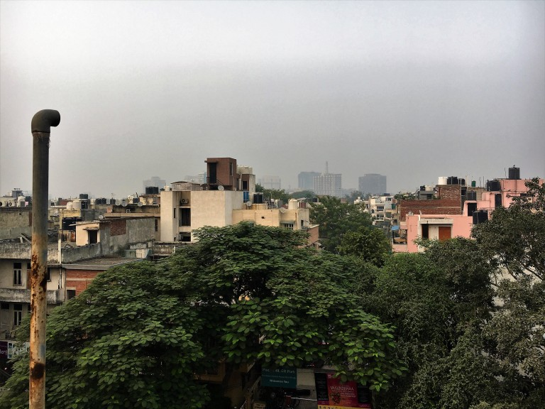 The view from my brother's terrace in C.R. Park, South Delhi