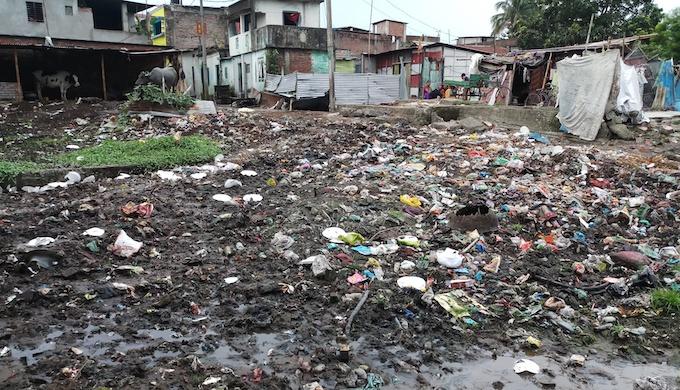 River pollution in Siliguri
