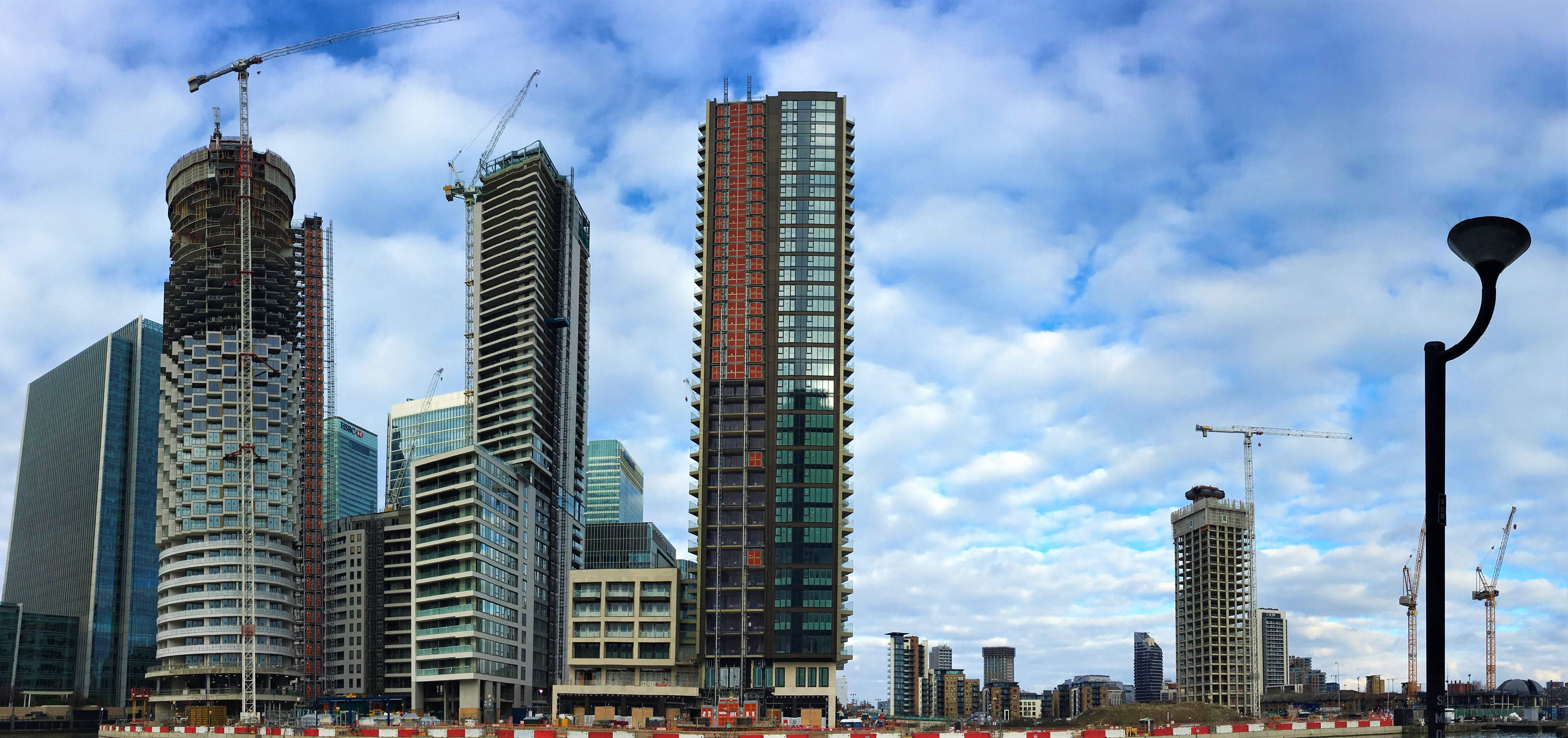 Wood Wharf as seen from South Quay Plaza