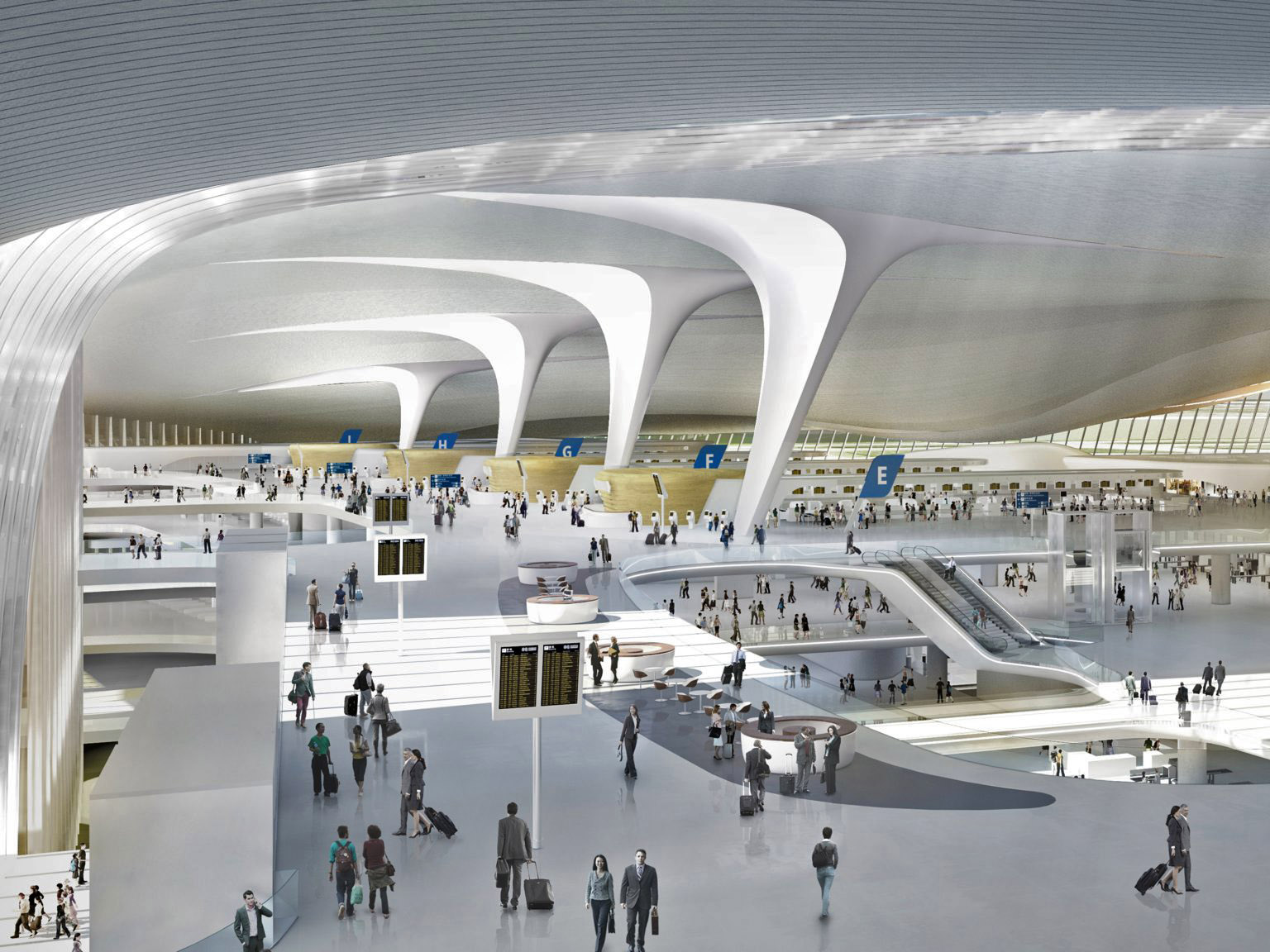 A CGI of Beida's central terminal interior