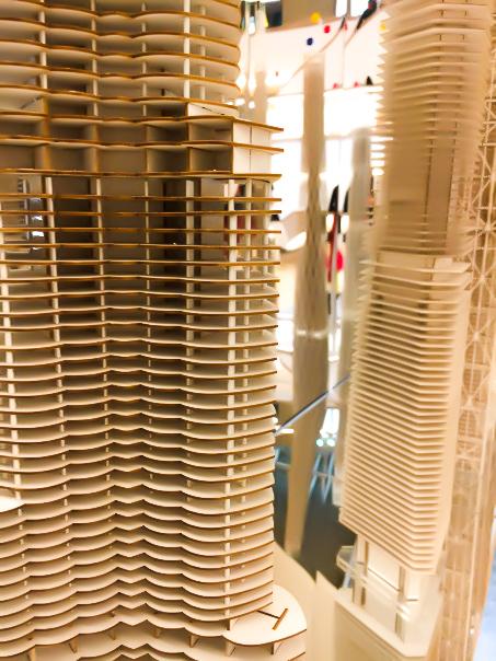 Burj Khalifa model at the SOM exhibition