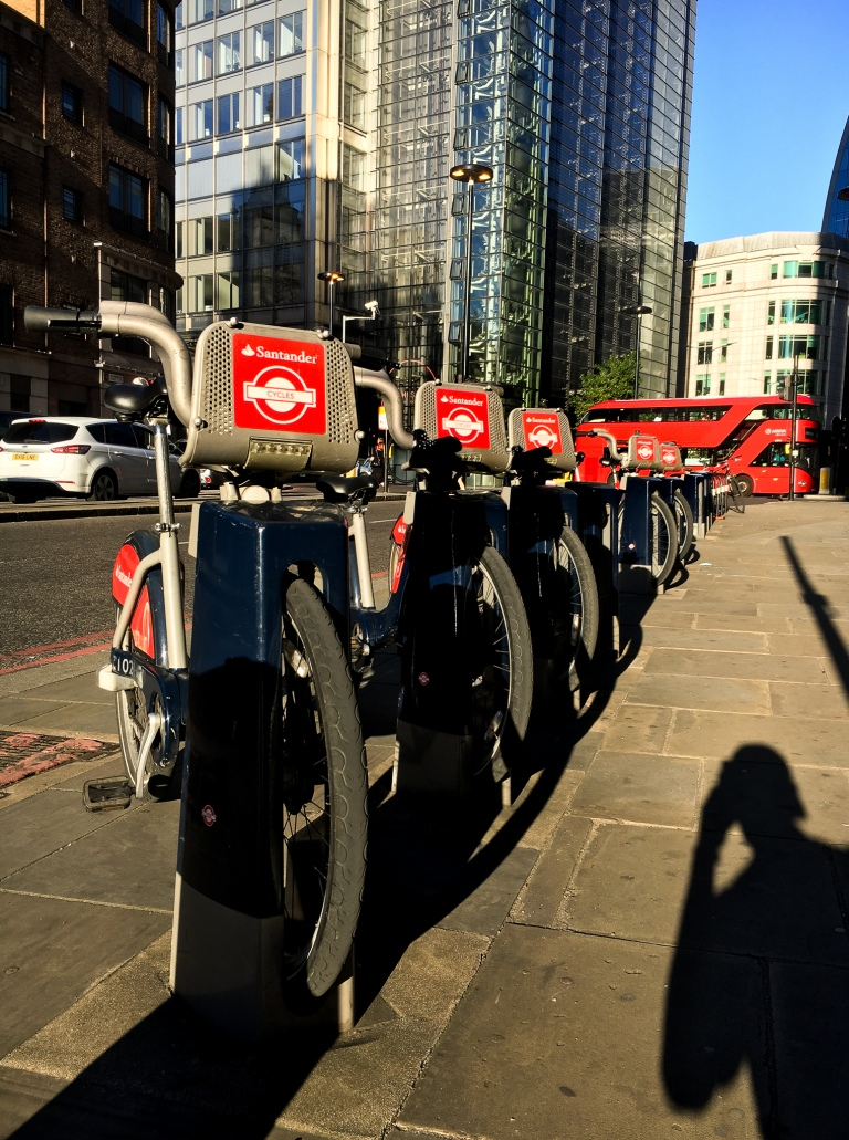 Santander Cycles docking station