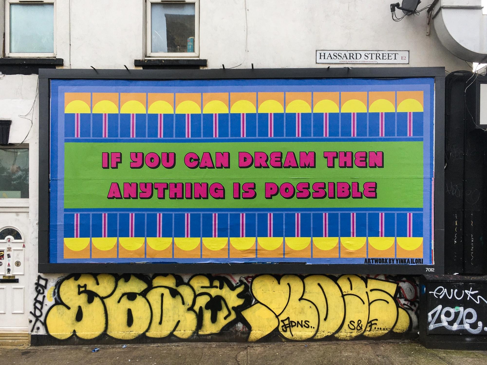 Yinka Ilori's billboard